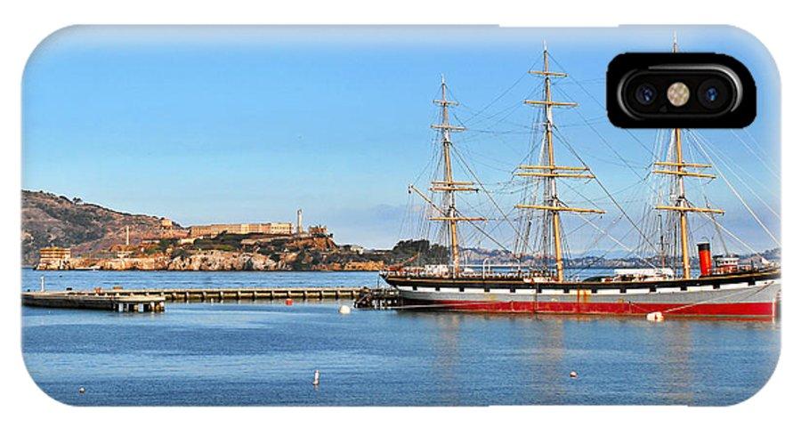 Alcatraz IPhone X Case featuring the photograph Alcatraz - No Escape by Christine Till
