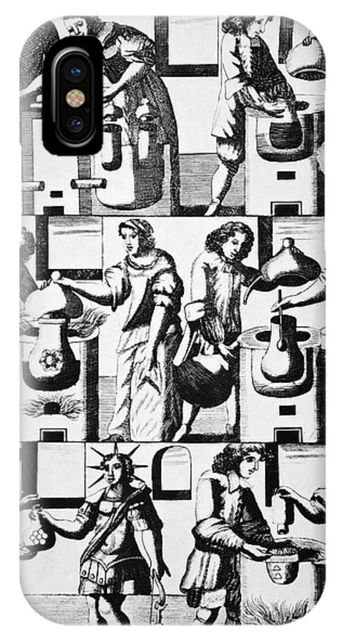Human IPhone X Case featuring the photograph Alchemy Preparations, 17th Century by