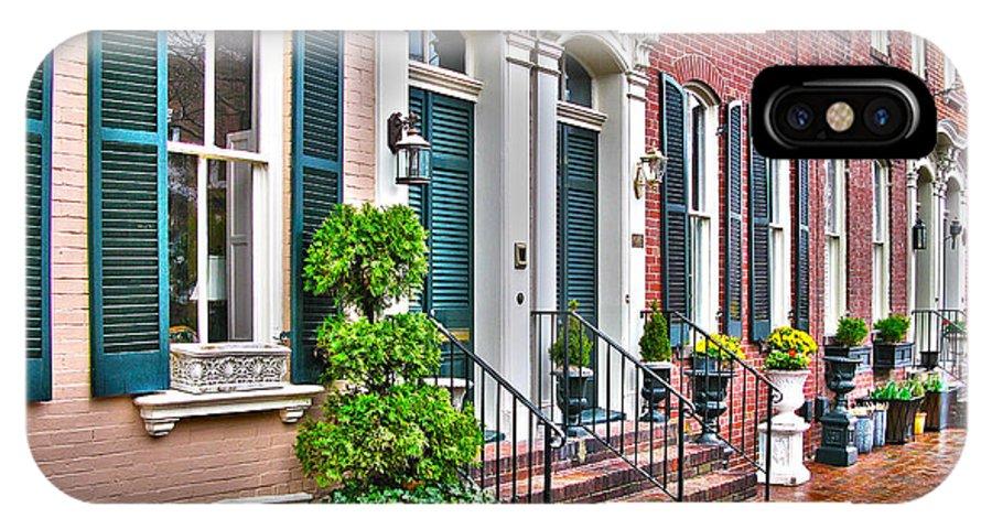 Alexandria Virginia IPhone X Case featuring the photograph Alexandria Row Houses by Jack Schultz