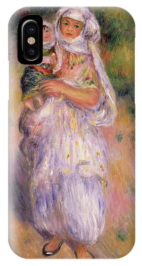 Algerian IPhone X Case featuring the painting Algerian Woman And Child by Pierre Auguste Renoir