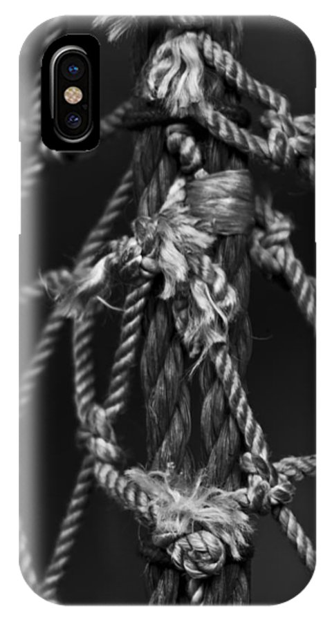 Busch IPhone X Case featuring the photograph All Tied Up by Nicholas Evans