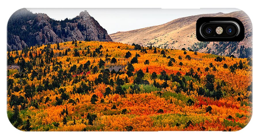 Fall Colors IPhone X / XS Case featuring the photograph Almost A Rainbow by Tim Reaves