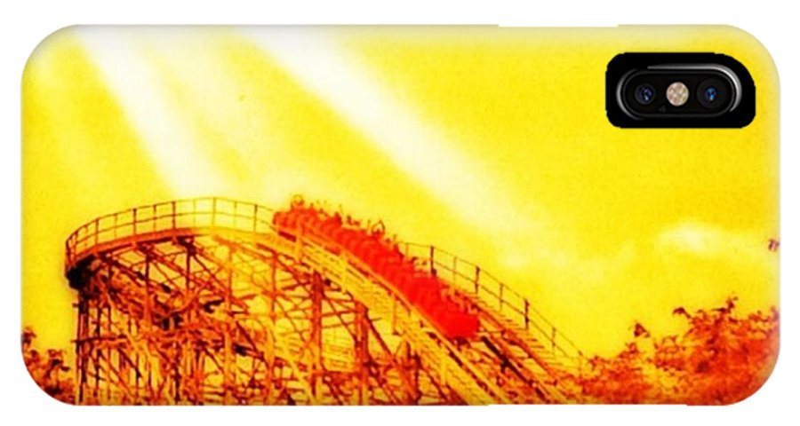 Mobilephotography IPhone X Case featuring the photograph #amazing Shot Of A #rollercoaster At by Pete Michaud