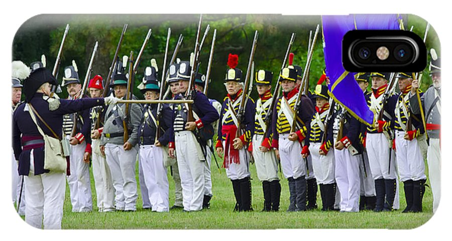 Siege Of Fort Erie IPhone X Case featuring the photograph American Line by JT Lewis