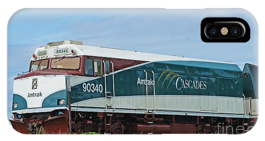 Trains IPhone X / XS Case featuring the photograph Amtraks Cascade Engine by Randy Harris