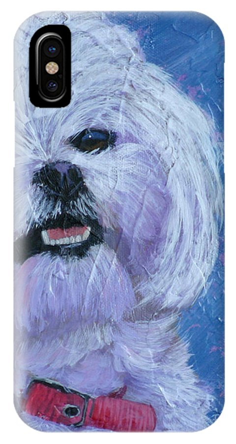 Dog IPhone X Case featuring the painting Amy by Diana Mahnke