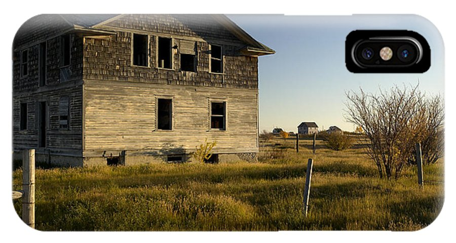No People IPhone X Case featuring the photograph An Abandoned Hospital Stands Alone by Pete Ryan