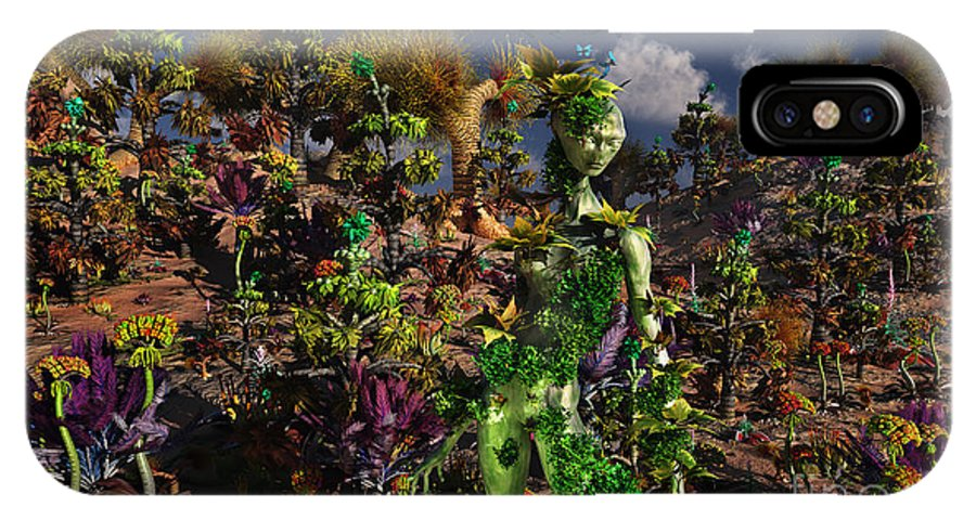 No People IPhone X Case featuring the digital art An Alien Being Blending by Mark Stevenson
