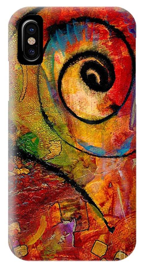 Emotive Art IPhone X Case featuring the mixed media An Artist In Wonderland by Angela L Walker