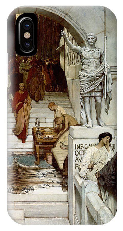 Audience IPhone X Case featuring the painting An Audience At Agrippa's by Sir Lawrence Alma-Tadema
