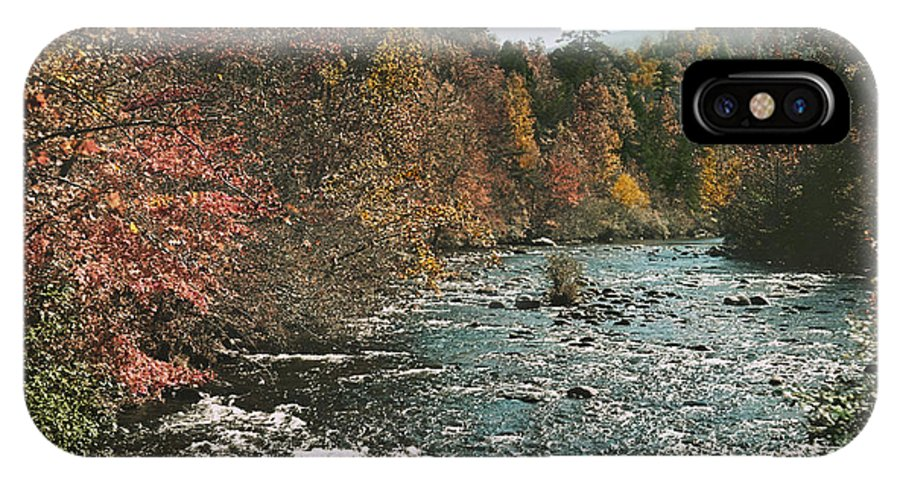 tennessee IPhone X / XS Case featuring the photograph An Autumn Scene Along Little River by J. Baylor Roberts