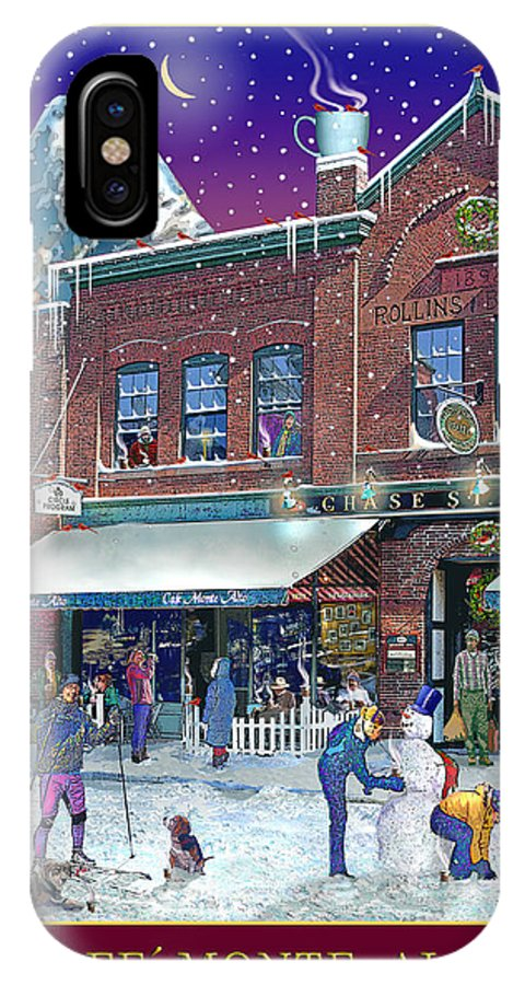 Prints IPhone X / XS Case featuring the photograph An Early Snow For Cafe Monte Alto by Nancy Griswold