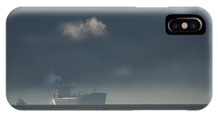 Day IPhone X Case featuring the photograph An Oil Tanker Cruises by Michael S. Quinton