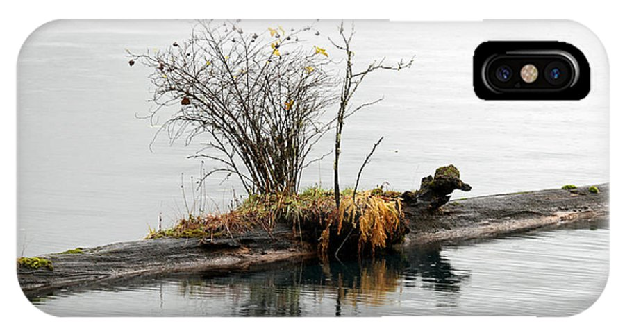 Lake IPhone X Case featuring the photograph An Outpost by Marie Jamieson