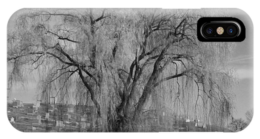 IPhone X Case featuring the photograph And The Willow Tree Weeps by Barbara S Nickerson