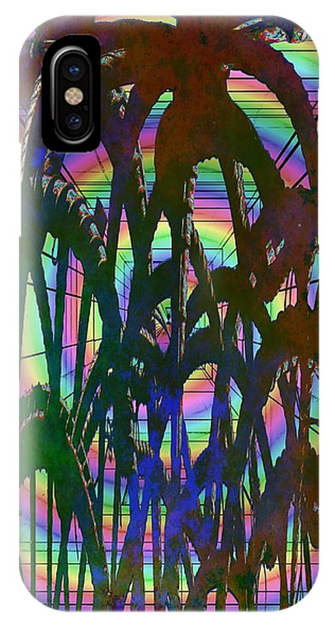 Abstract IPhone X / XS Case featuring the digital art And They All Came Tumbling Down by Tim Allen