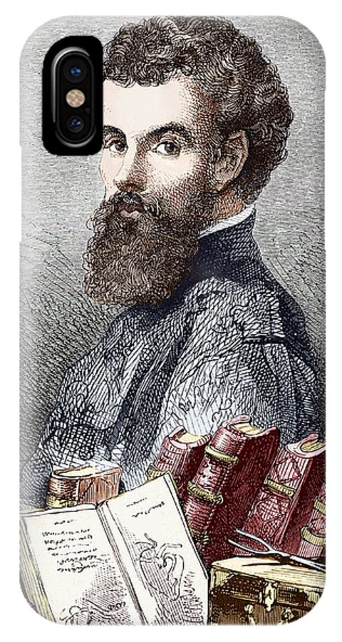 Andreas Vesalius IPhone X Case featuring the photograph Andreas Vesalius, Belgian Anatomist by Sheila Terry