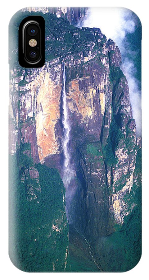 Aerial IPhone X Case featuring the photograph Angel Falls In Venezuela by Carl Purcell