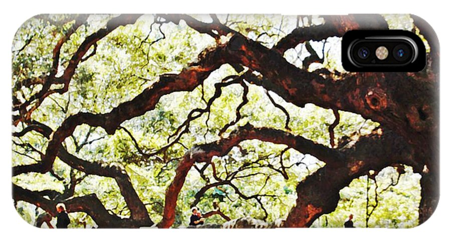 Tree IPhone X / XS Case featuring the photograph Angel Oak Tree 2 by Donna Bentley