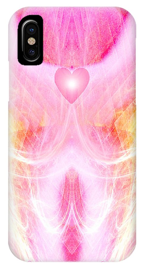 Angel IPhone X Case featuring the digital art Angel Of Divine Love by Diana Haronis