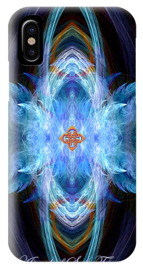 Angel IPhone X Case featuring the digital art Angel Of Safe Travel by Diana Haronis