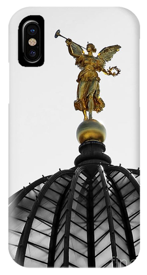 Architecture IPhone X Case featuring the photograph Angels Up On High by Katja Zuske