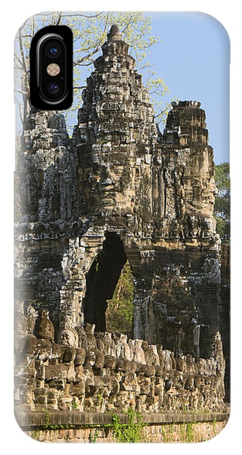 Ancient IPhone X Case featuring the photograph Angkor Archaeological Park II by Gloria & Richard Maschmeyer
