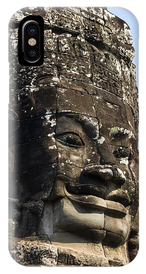 Ancient IPhone X Case featuring the photograph Angkor Thom Fae by Gloria & Richard Maschmeyer