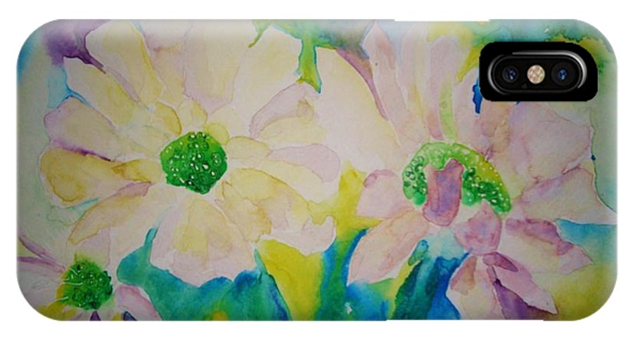 Flowers IPhone X Case featuring the painting Anne's Flowers by Melinda Etzold