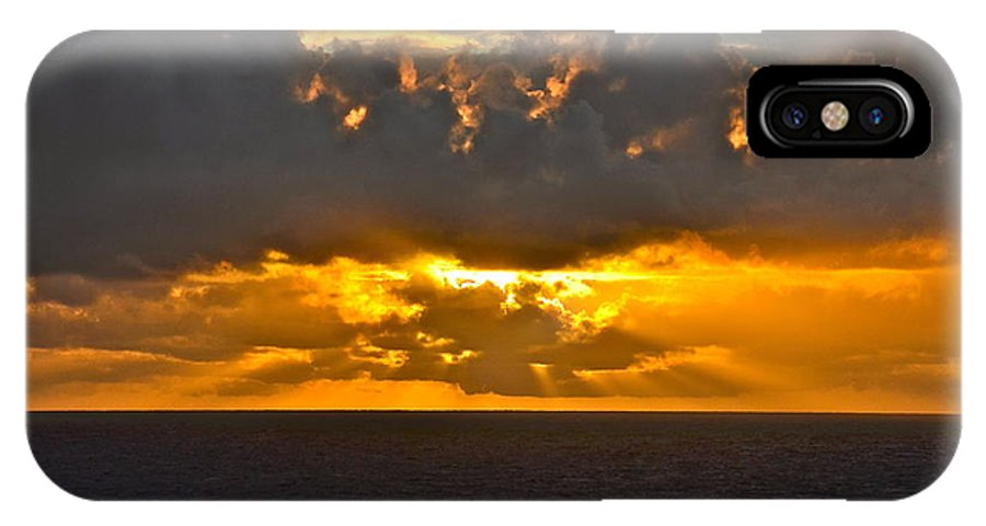 Sunset IPhone X Case featuring the photograph Another Caribbean Sunset by Carol Bradley