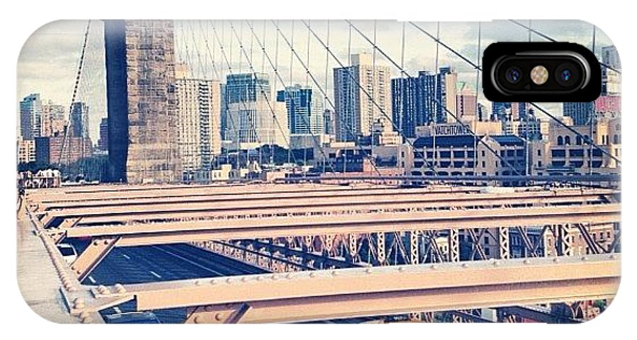 Summer IPhone X Case featuring the photograph Another Day On Brooklyn Bridge by Randy Lemoine