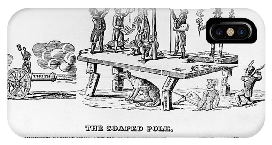 1817 IPhone X Case featuring the photograph Anti-democrat Cartoon by Granger