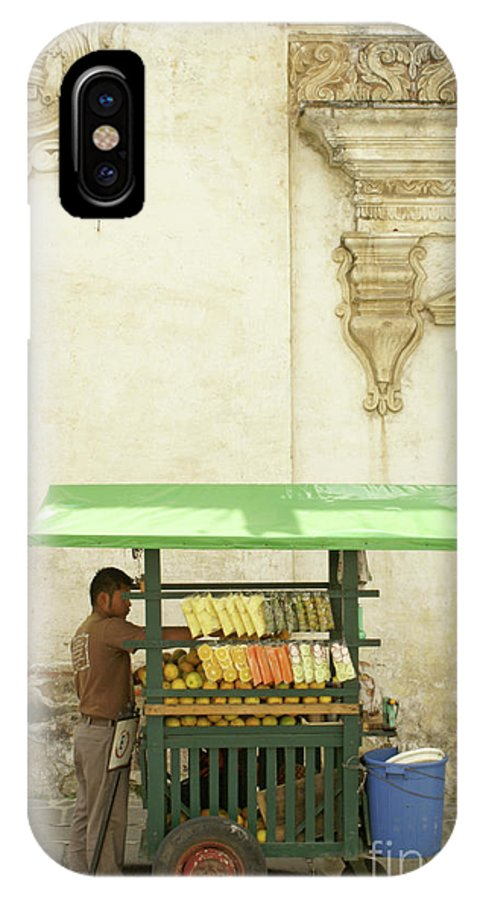 Guatemala IPhone X Case featuring the photograph Antigua Fruit Vendor by John Mitchell