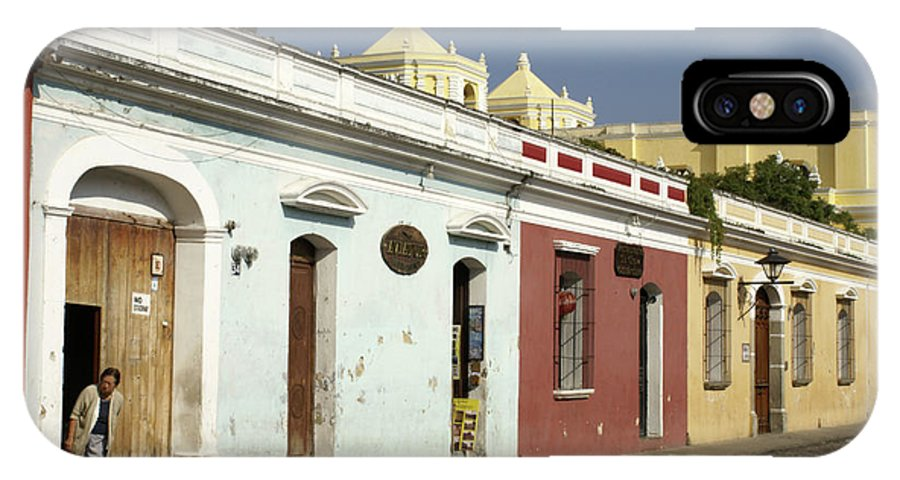 Guatemala IPhone X Case featuring the photograph Antigua Street by John Mitchell