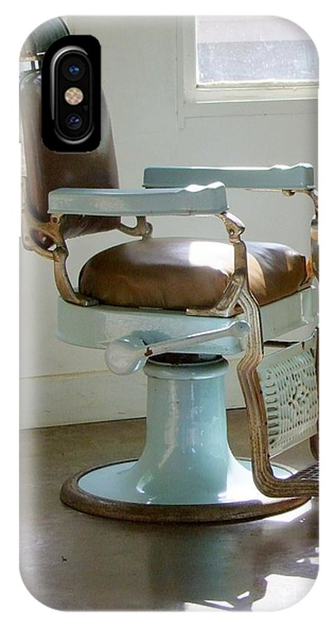 Barber Chair IPhone X Case featuring the photograph Antique Barber Chair by Mary Deal