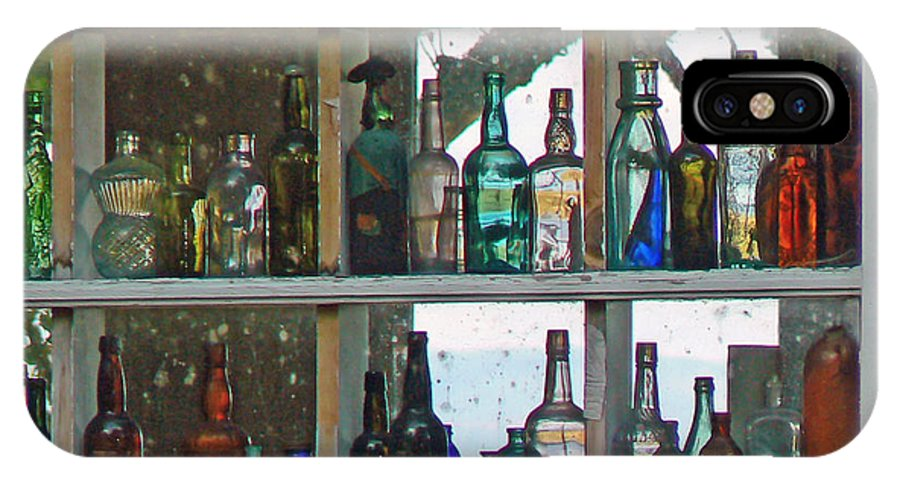 Antique Bottles IPhone X / XS Case featuring the photograph Antique Bottle Collection by Pamela Patch