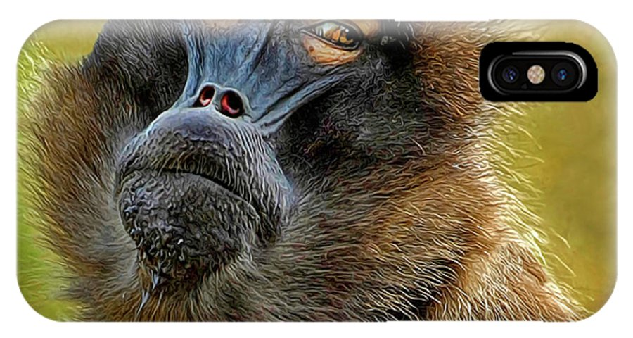 Ape IPhone X Case featuring the photograph Ape by Dave Mills