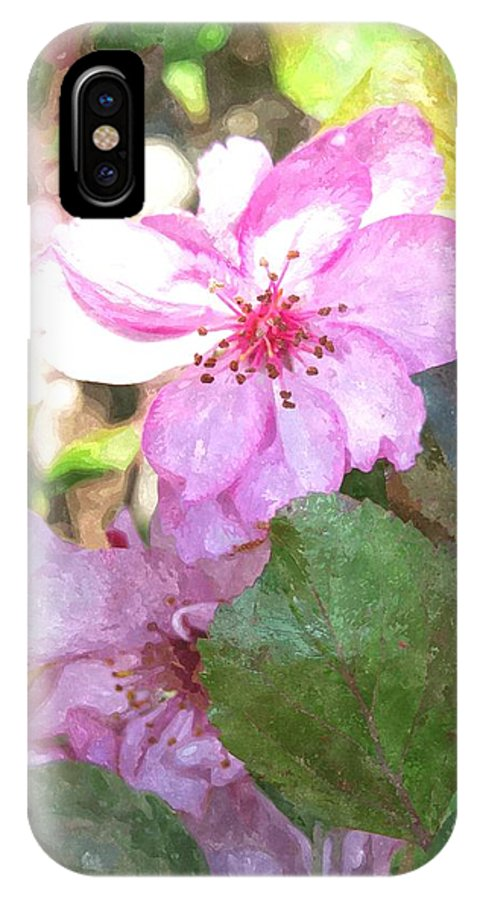 Apple Blossom IPhone X Case featuring the digital art Apple Blossom II Ab2wc by Jim Brage