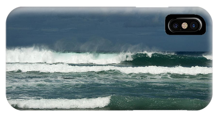 Sandra Bronstein IPhone X Case featuring the photograph Approaching Storm In Maui by Sandra Bronstein