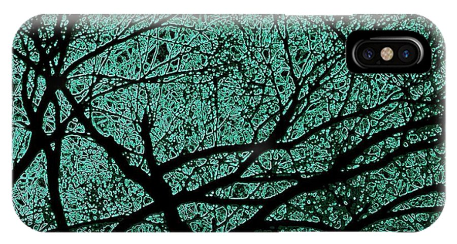 Trees IPhone X Case featuring the photograph Aqua Scrub by Chris Berry