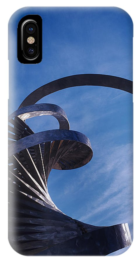 Structure IPhone X Case featuring the photograph Architectural Detail by Carlos Dominguez