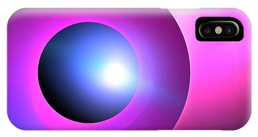 Apophysis IPhone X Case featuring the digital art Arcturus by Kim Sy Ok