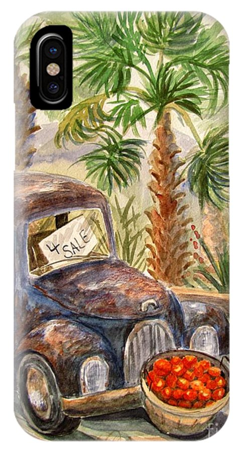 Old Truck IPhone X Case featuring the painting Arizona Sweets by Marilyn Smith