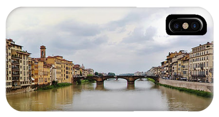 Frienze IPhone X Case featuring the photograph Arno River In Florence Italy by Roger Mullenhour