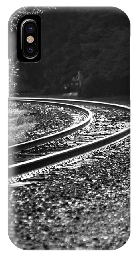 Track IPhone X Case featuring the photograph Around The Bend by Lauri Novak