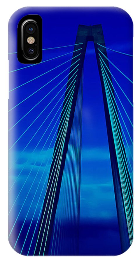 Bridge IPhone X Case featuring the photograph Arthur Ravenel Jr Bridge IIi by DigiArt Diaries by Vicky B Fuller