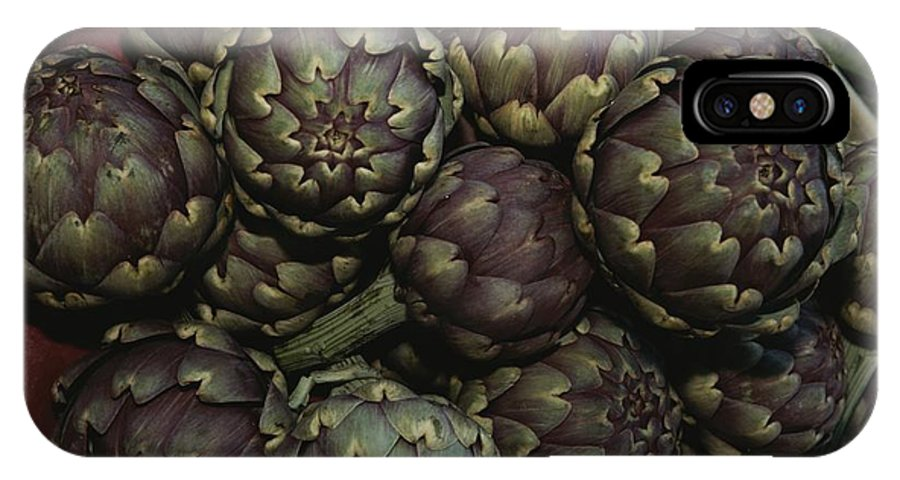Europe IPhone X / XS Case featuring the photograph Artichokes At A Market In Provence by Nicole Duplaix