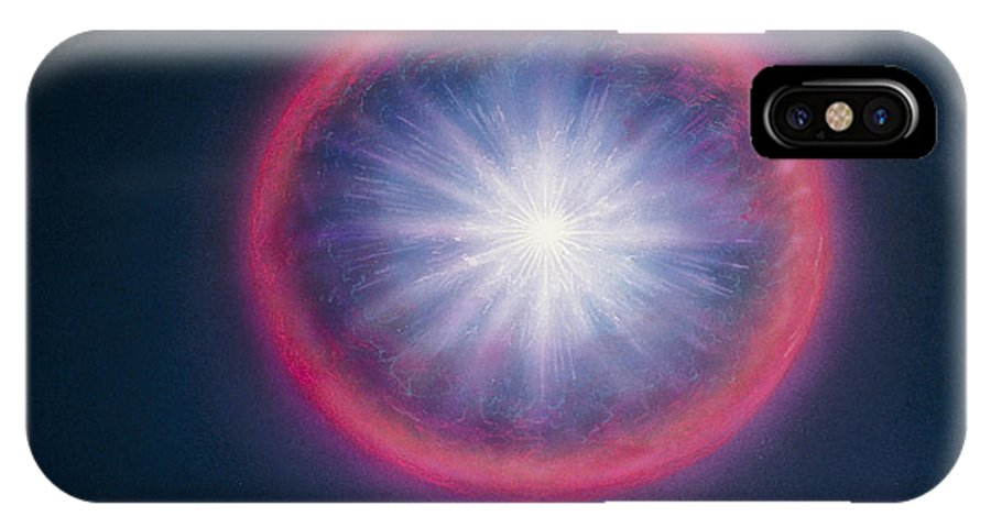 Big Bang IPhone X Case featuring the photograph Artist's Impression Of The Big Bang by Chris Butler