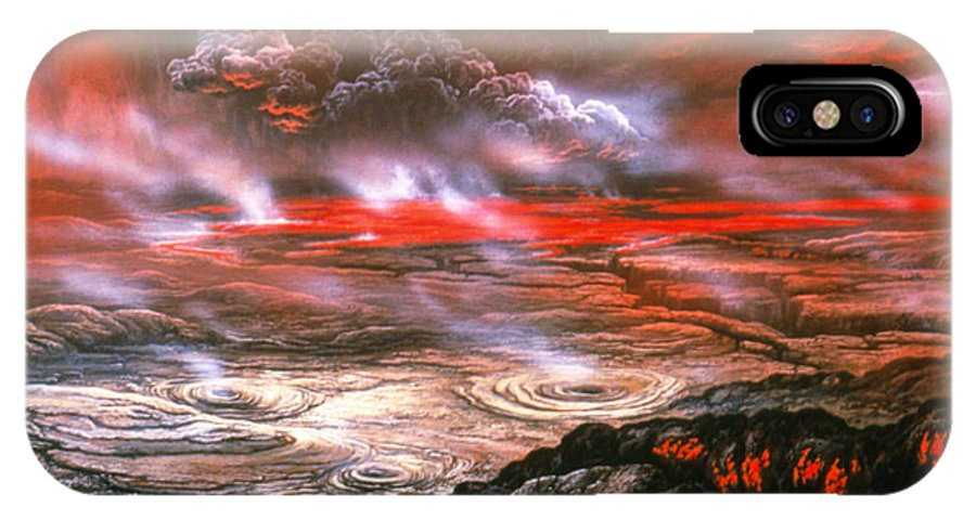 artwork of lava flows on the surface of venus iphone x xs case for