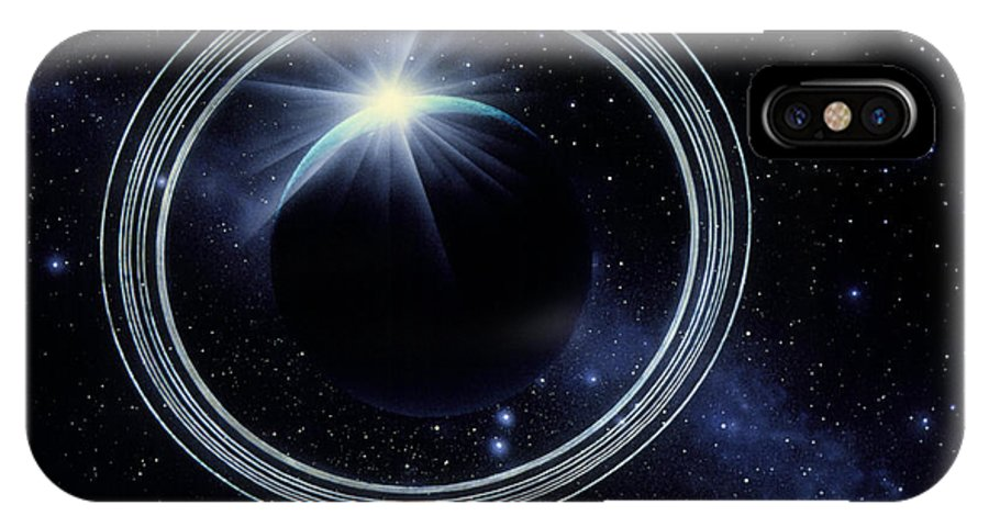 Voyager 2 IPhone X / XS Case featuring the photograph Artwork Showing Voyager 2's View Of Uranus by Julian Baum